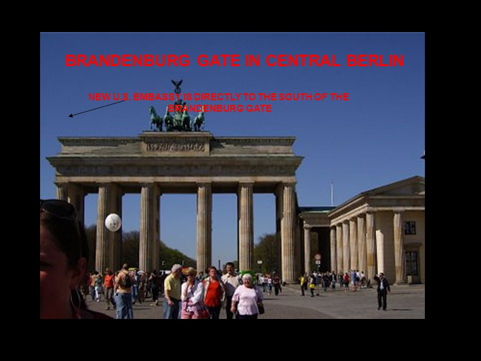 BRANDENBURG GATE IN CENTRAL BERLIN NEW U.S.