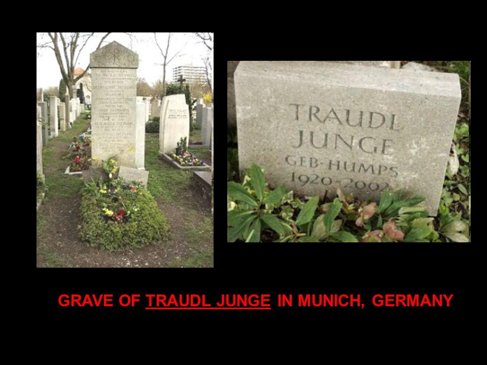 GRAVE OF TRAUDL JUNGE IN MUNICH, GERMANY
