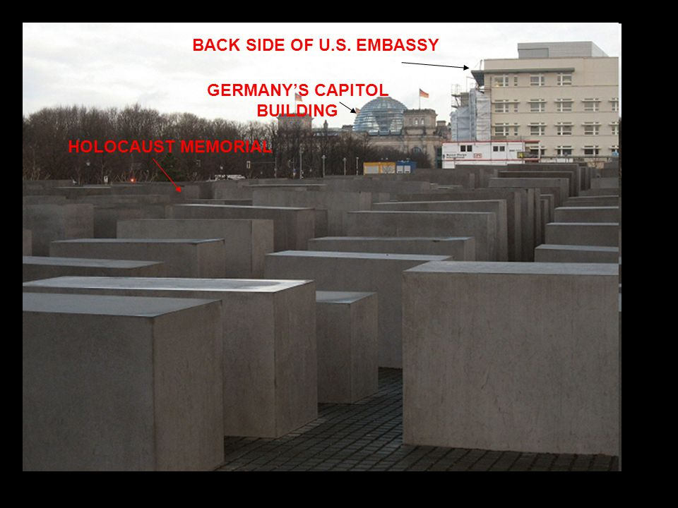 U.S EMBASSY UNDER CONSTRUCTION HOLOCAUST MEMORIAL