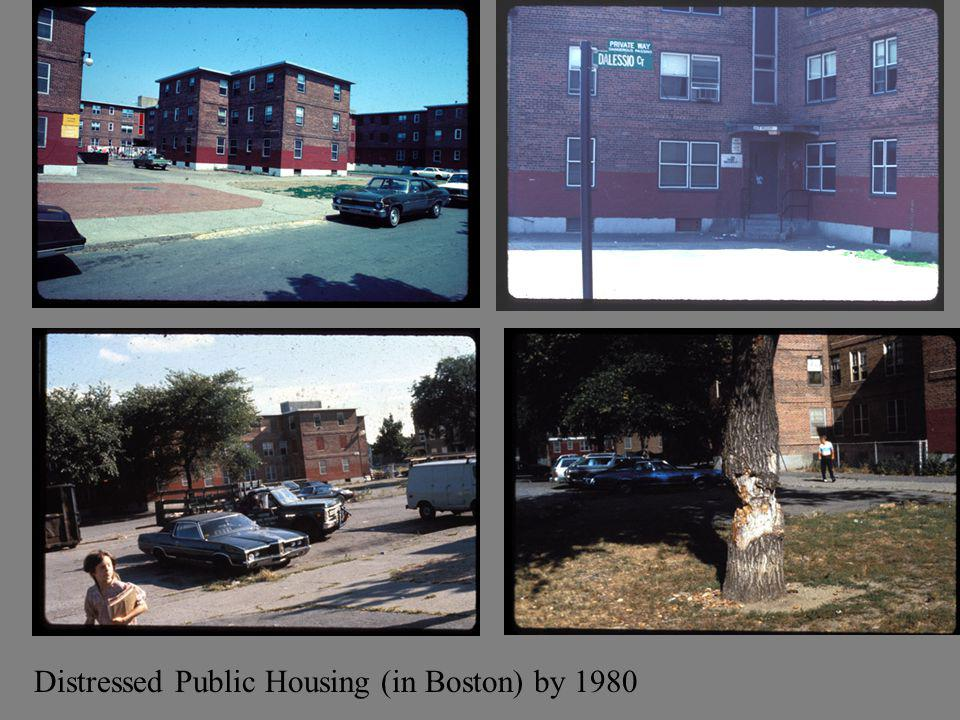 Distressed Public Housing (in Boston) by 1980