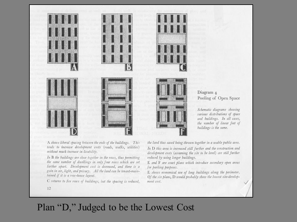 Plan D, Judged to be the Lowest Cost