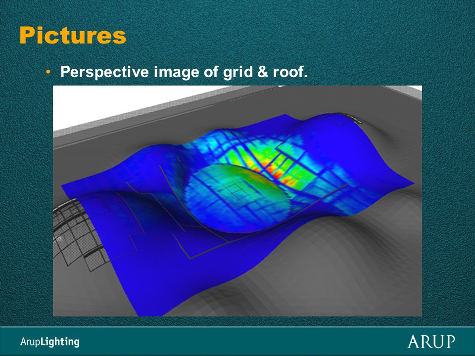 Pictures Perspective image of grid & roof.