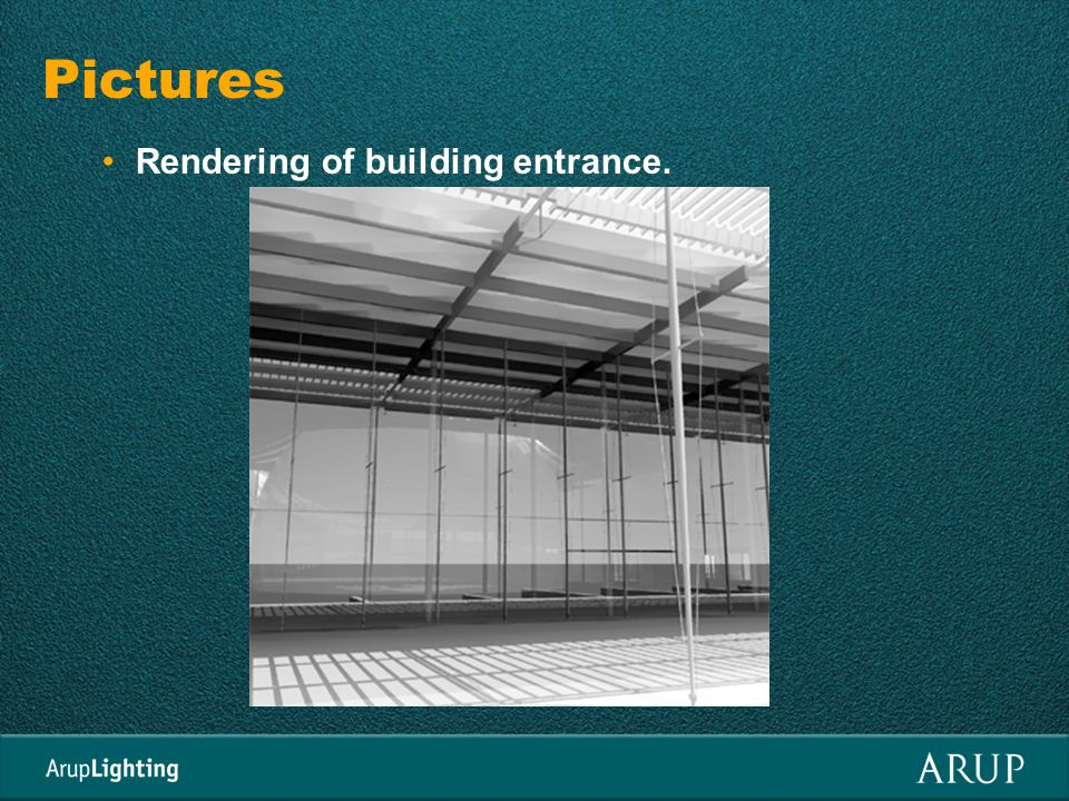 Pictures Rendering of building entrance.