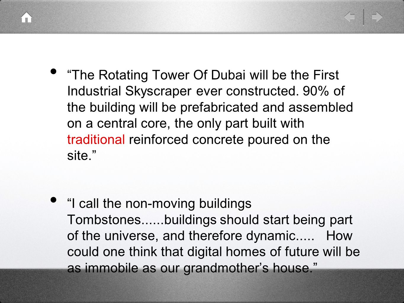 The Rotating Tower Of Dubai will be the First Industrial Skyscraper ever constructed.