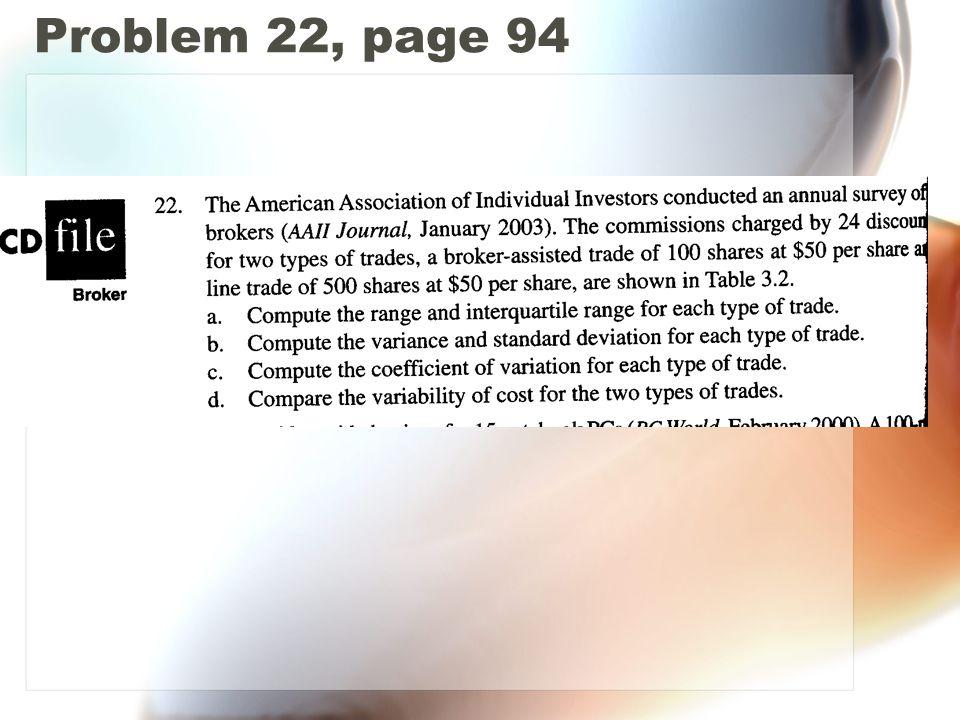 Problem 22, page 94