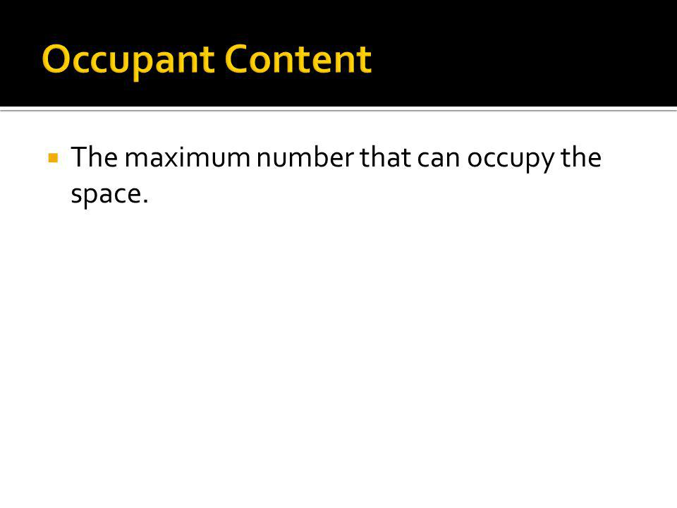 The maximum number that can occupy the space.