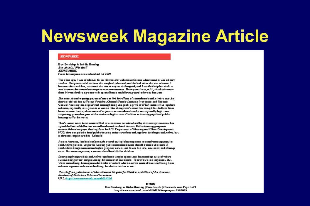 Newsweek Magazine Article