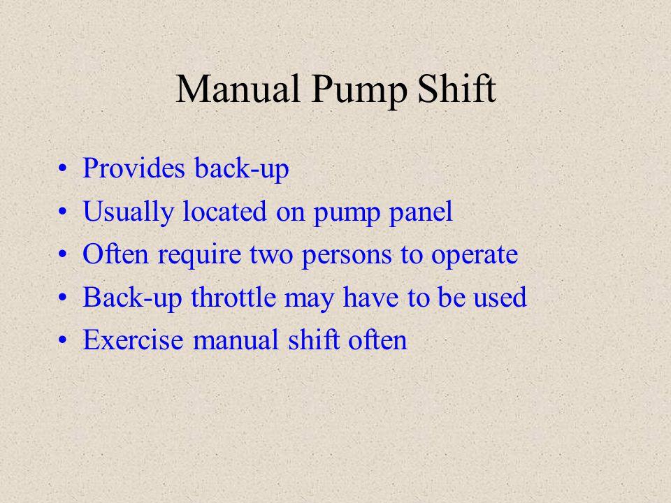 Gauges Compound gauge Master intake gauge (compound) Master discharge gauge Individual discharge gauge Engine gauges