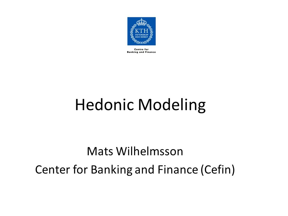 Method Hedonic Spatial Econometrics (I will come to that) Specification: Implicit price: