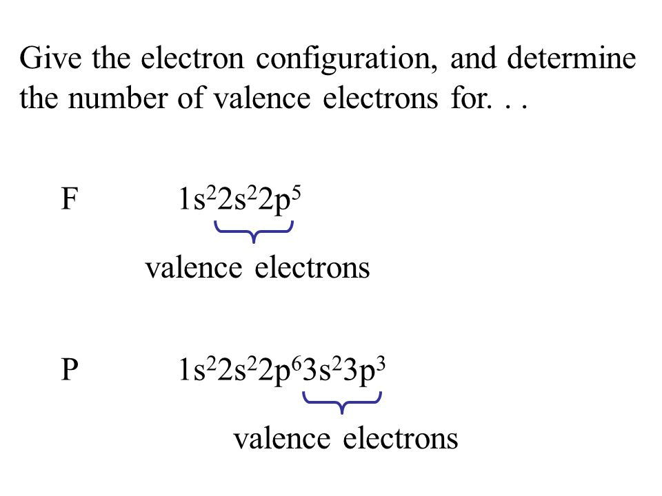 Give the electron configuration, and determine the number of valence electrons for...