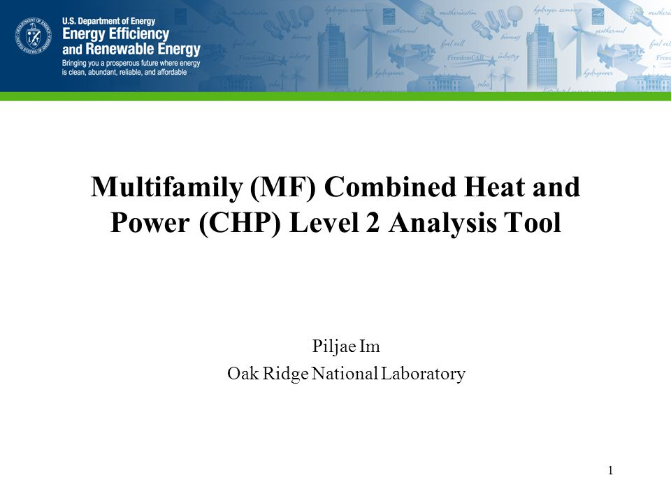 Webinar Outline Introduction HUD CHP Level 1 Screening Tool MF CHP Level 2 Analysis Tool Quick Starts MF Building Template Example Use of the Tool 2
