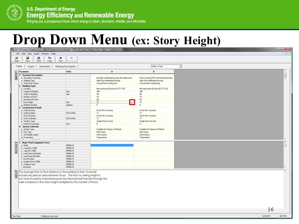 Drop Down Menu (ex: Story Height) 16