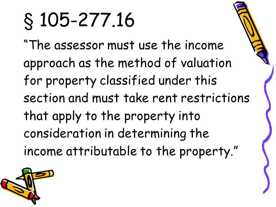 § 105 277.16 The assessor may not consider income tax credits received under section 42 or under G.S.