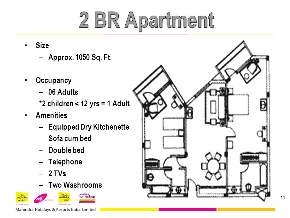14 Size – Approx.1050 Sq. Ft.