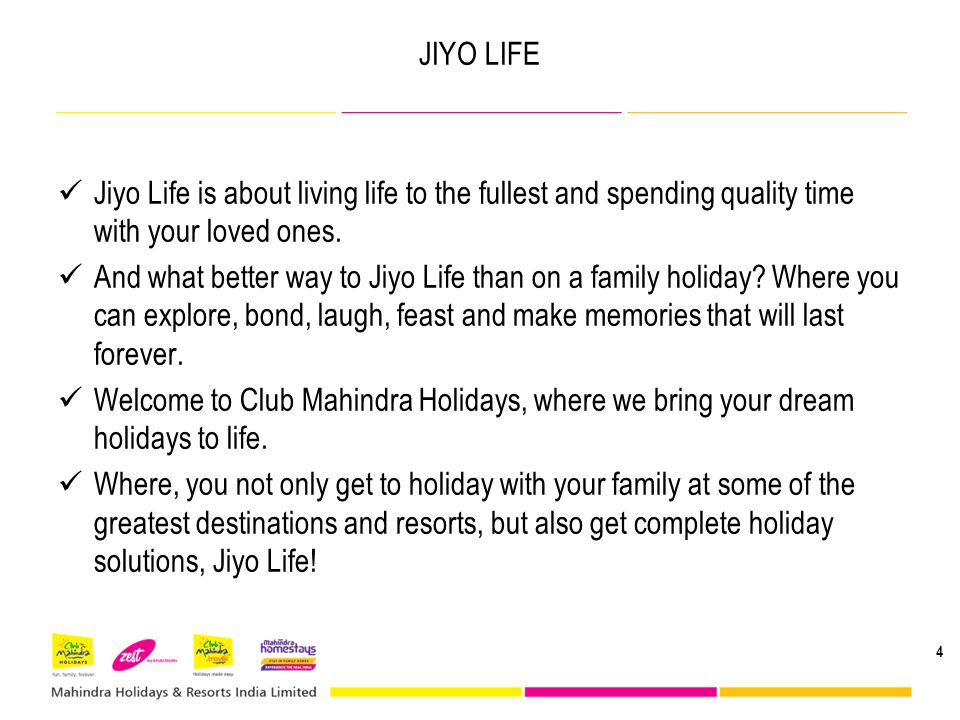 JIYO LIFE Jiyo Life is about living life to the fullest and spending quality time with your loved ones.