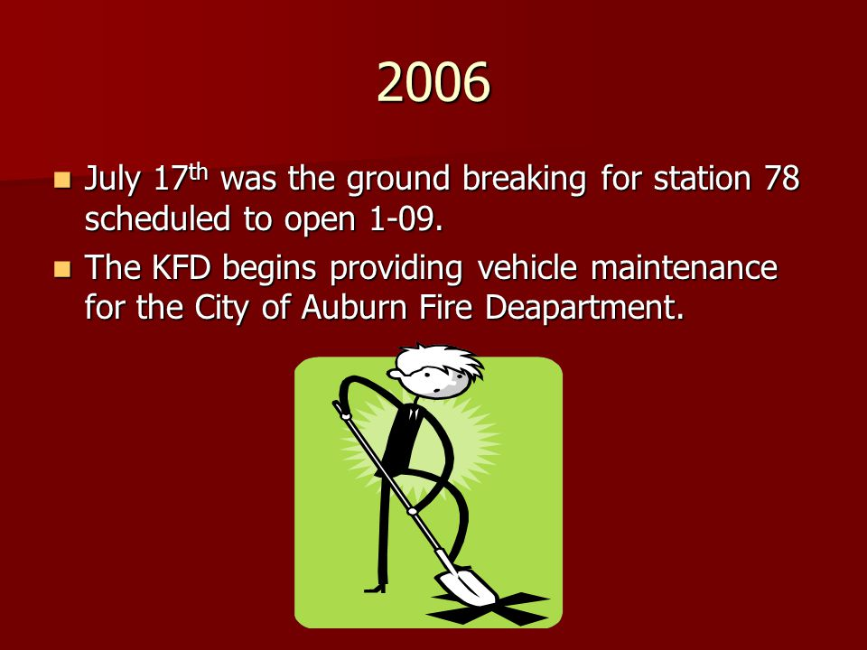 2006 July 17 th was the ground breaking for station 78 scheduled to open 1-09. July 17 th was the ground breaking for station 78 scheduled to open 1-0