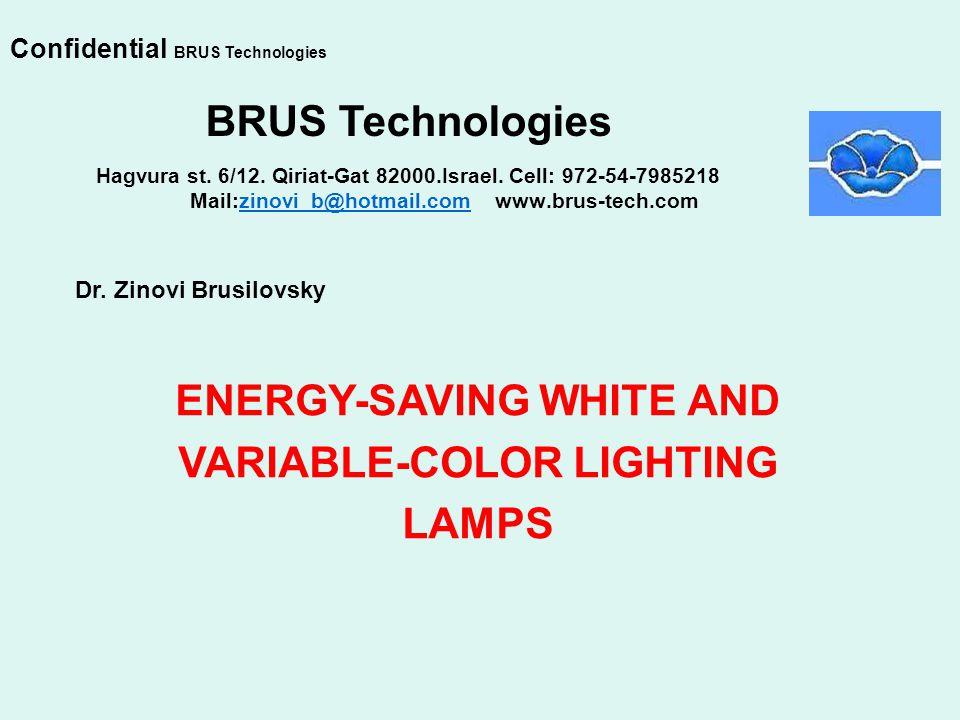 Hagvura st. 6/12. Qiriat-Gat 82000.Israel. Cell: 972-54-7985218 Mail:zinovi_b@hotmail.com www.brus-tech.comzinovi_b@hotmail.com BRUS Technologies Dr.
