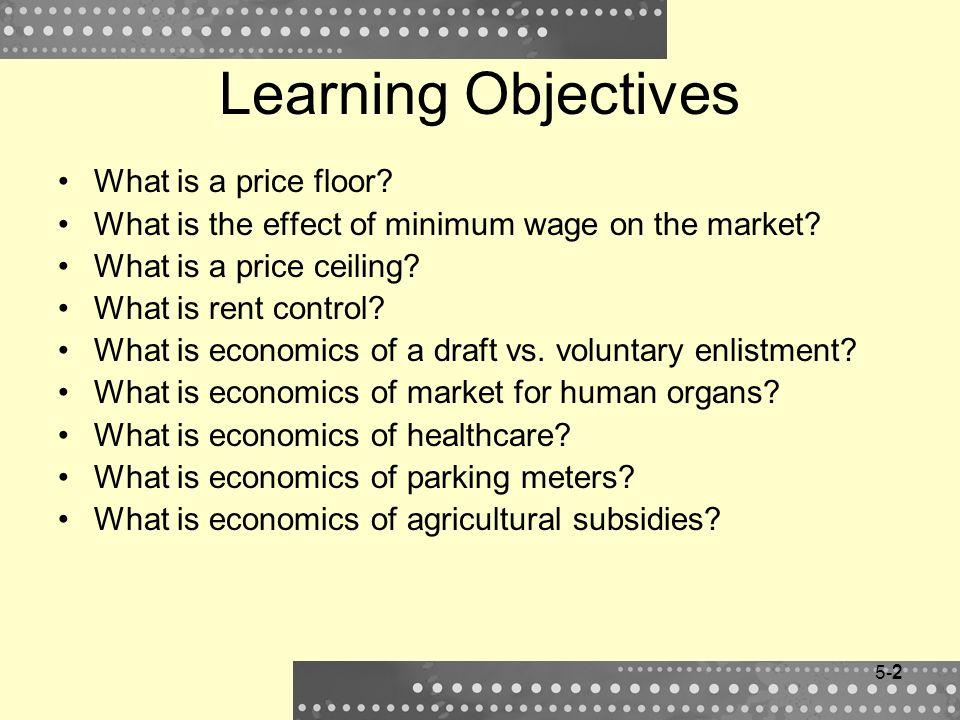3 Price Floor Price floor = minimum legal price set by government.