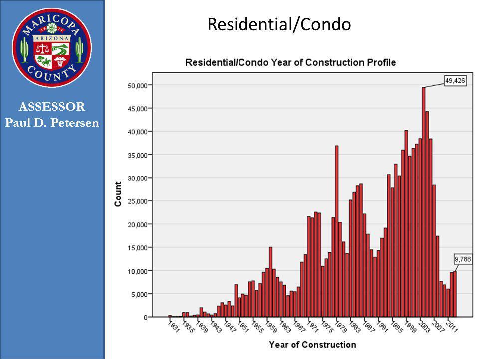 Residential/Condo 25 ASSESSOR Paul D. Petersen