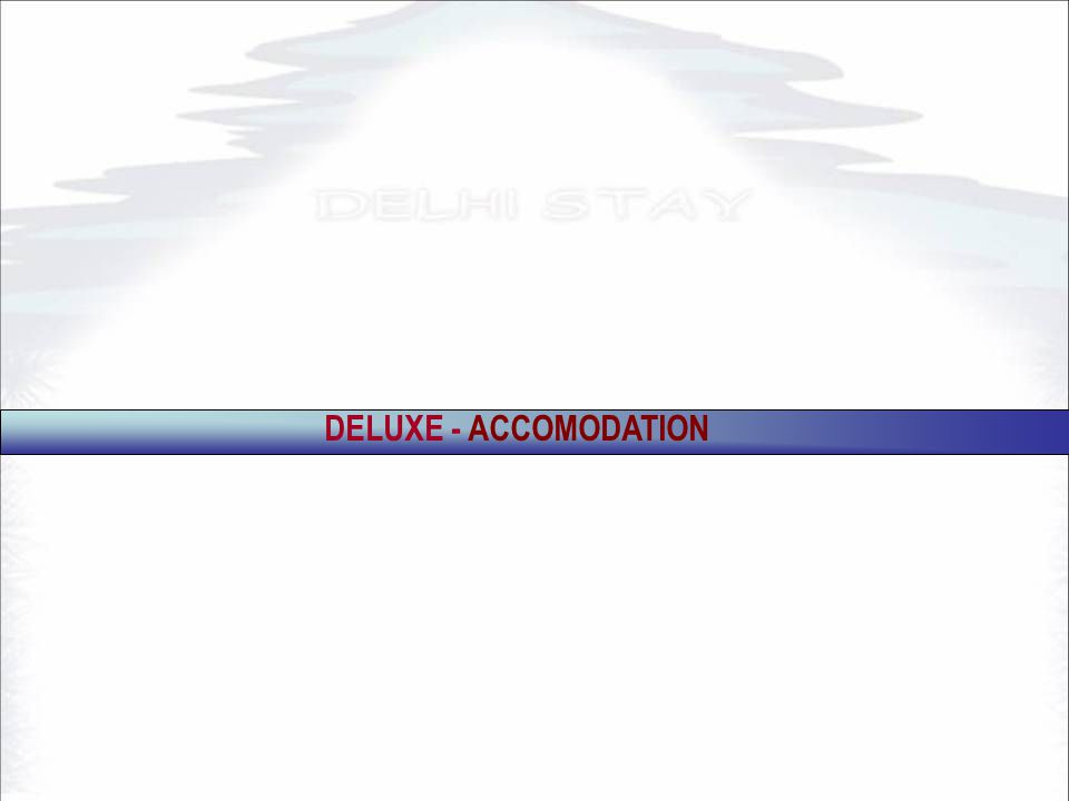 DELUXE - ACCOMODATION