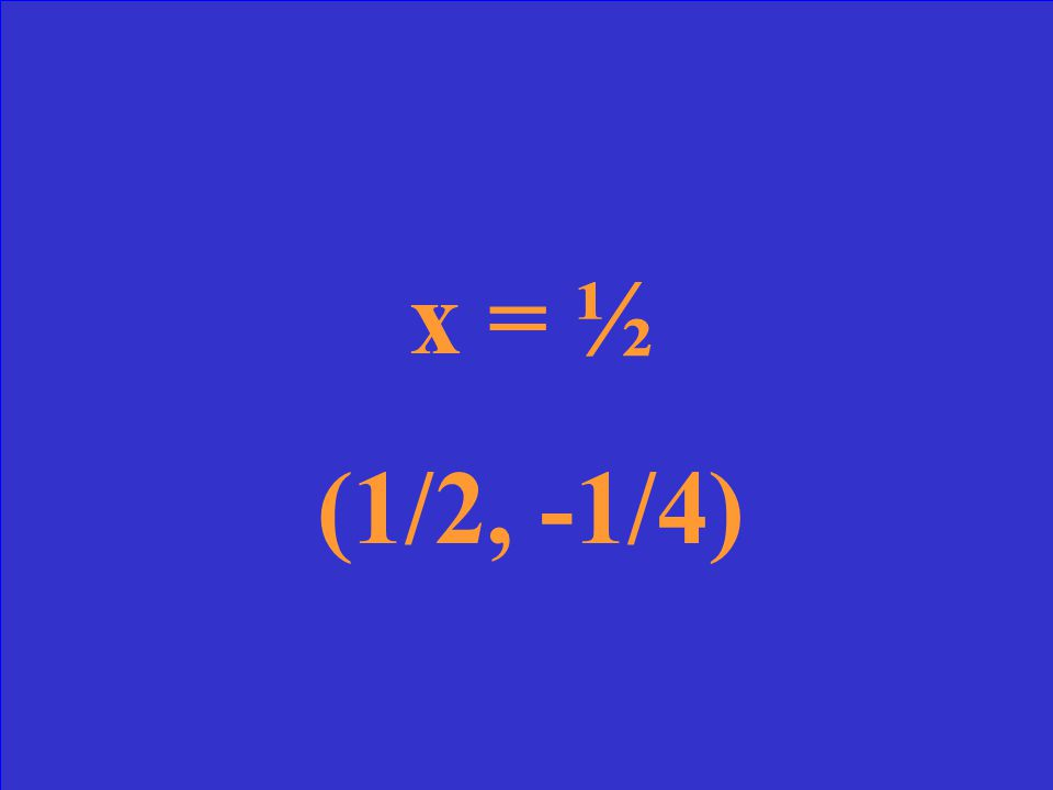 Find the axis of symmetry and vertex for the graph y = -3x 2 + 3x - 1