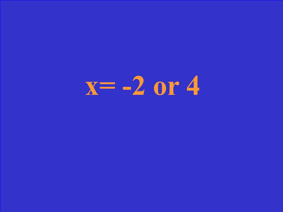 Solve for x (x+2)(x-4) = 0