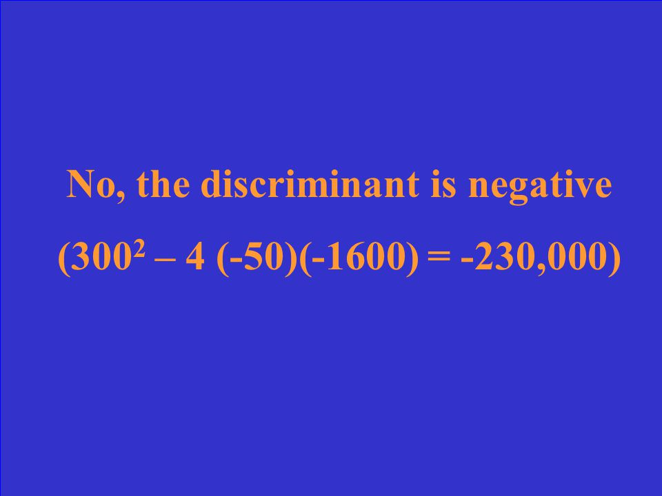 An apartment rental agency uses the formula I = 5400 + 300n – 50n 2 to find its monthly income I based on renting n apartments.