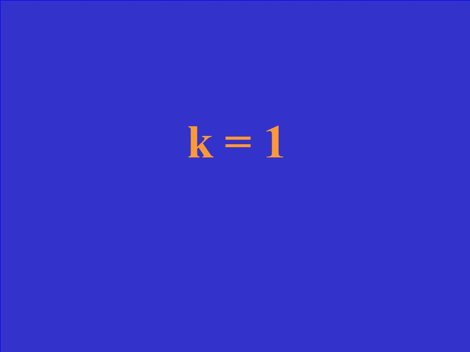 For the equation x 2 + 2x + k = 0; find the value of k to the equation has one solution