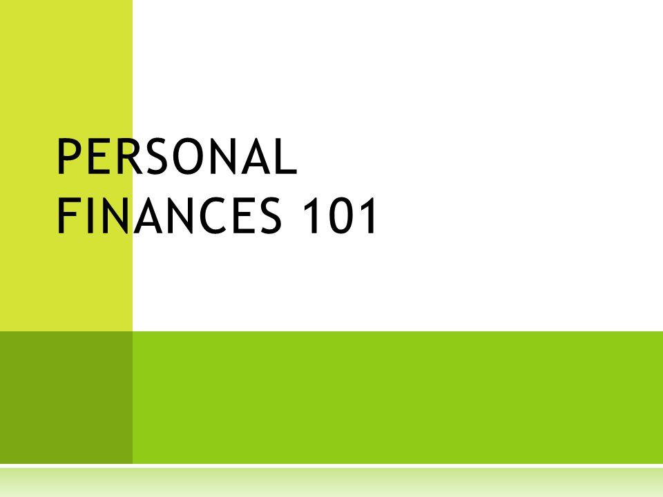 PERSONAL FINANCES 101