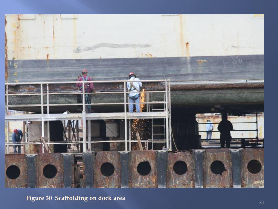 34 Figure 30 Scaffolding on dock area