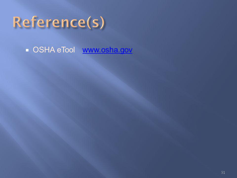 OSHA eTool www.osha.govwww.osha.gov 51