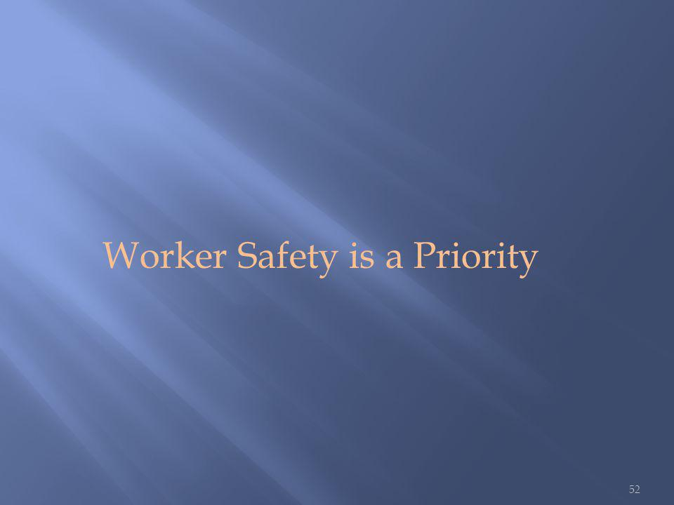 52 Worker Safety is a Priority