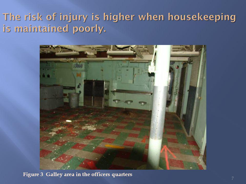 7 Figure 3 Galley area in the officers quarters