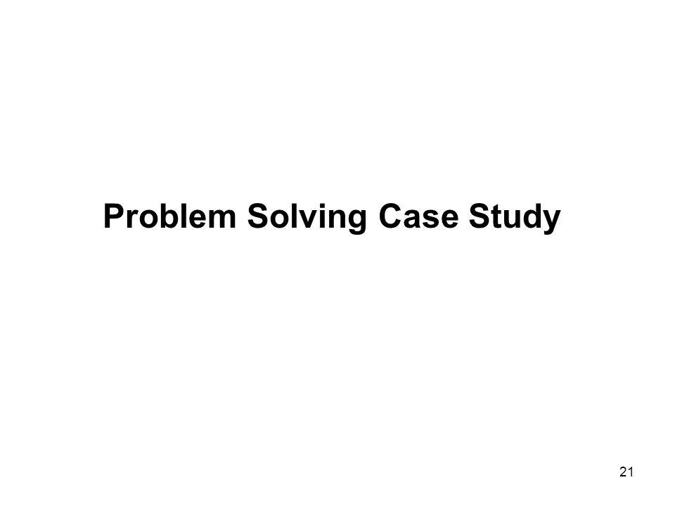21 Problem Solving Case Study