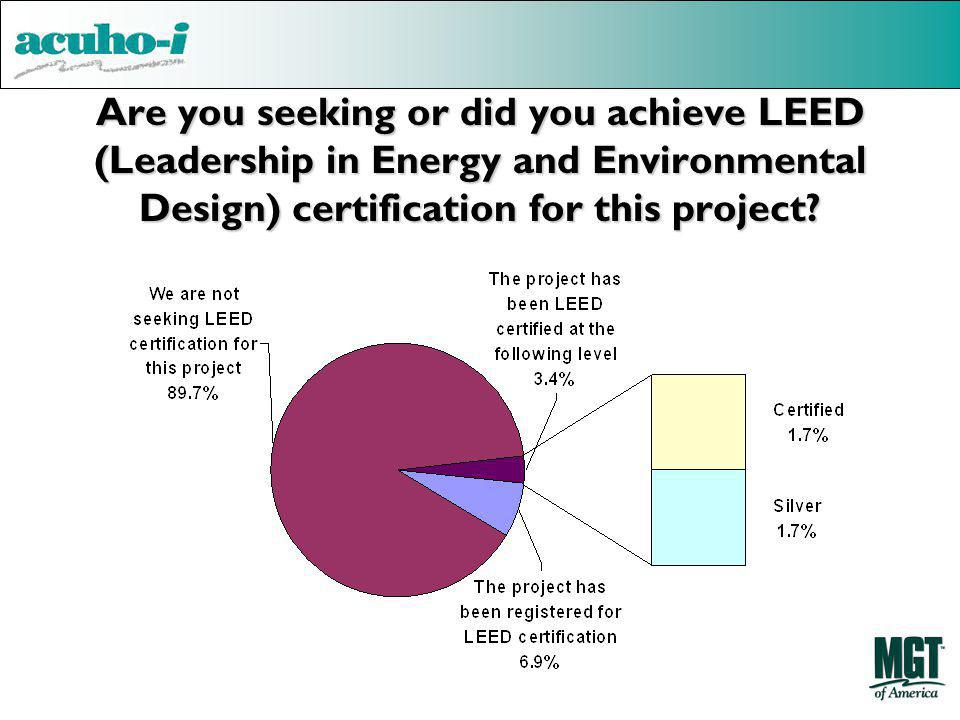 Are you seeking or did you achieve LEED (Leadership in Energy and Environmental Design) certification for this project?