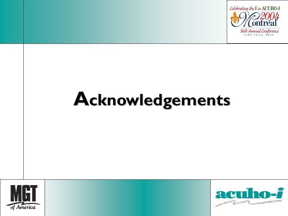A cknowledgements
