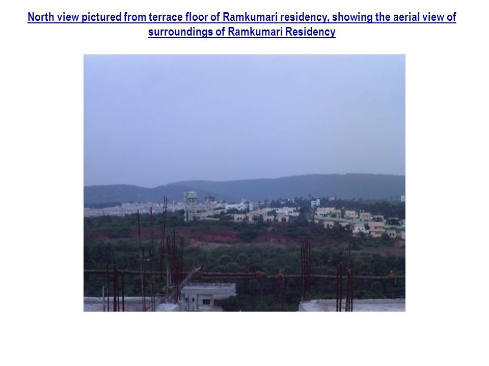 North view pictured from terrace floor of Ramkumari residency, showing the aerial view of surroundings of Ramkumari Residency