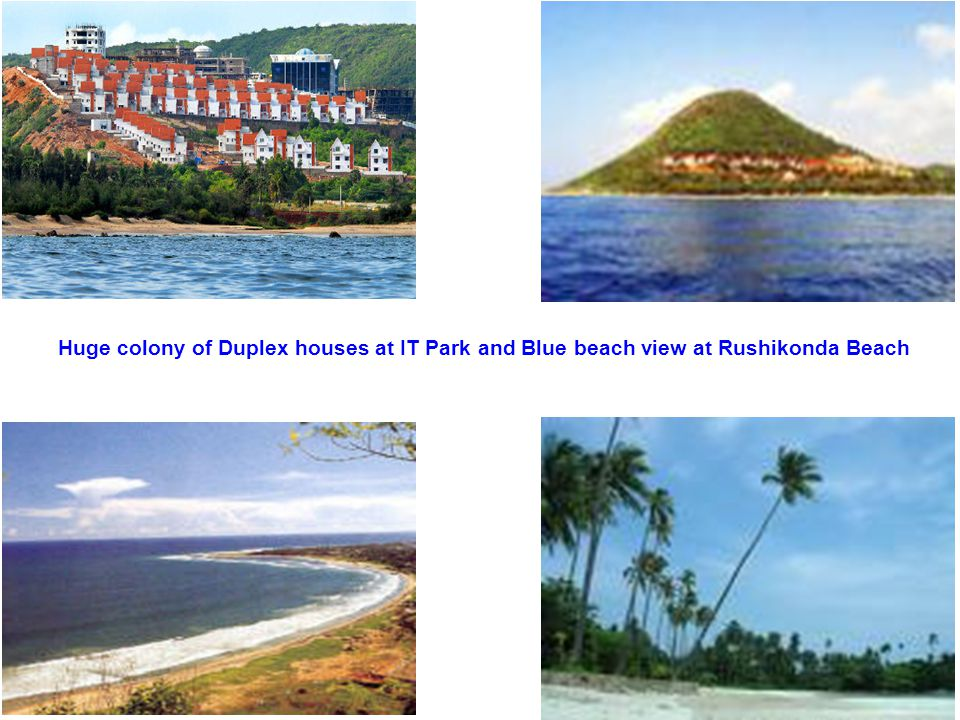 Huge colony of Duplex houses at IT Park and Blue beach view at Rushikonda Beach