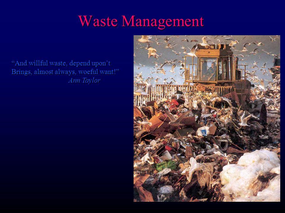 Waste Management Sources of solid waste
