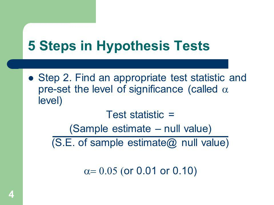 5 5 Steps in Hypothesis Tests Step 3.