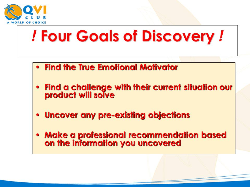 F FF Four Goals of Discovery .