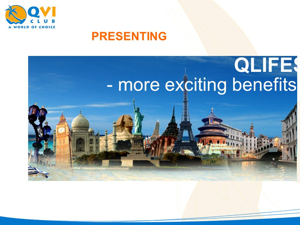 PRESENTING QLIFESTYLE - more exciting benefits for you!