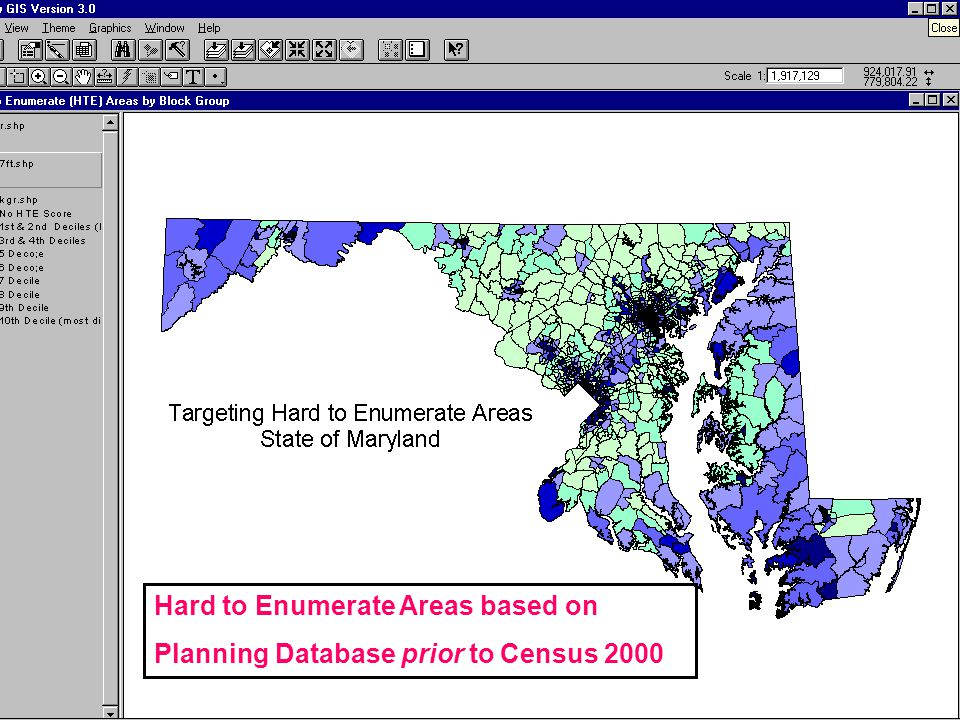 Hard to Enumerate Areas based on Planning Database prior to Census 2000