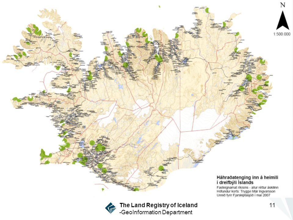 The Land Registry of Iceland -GeoInformation Department 11
