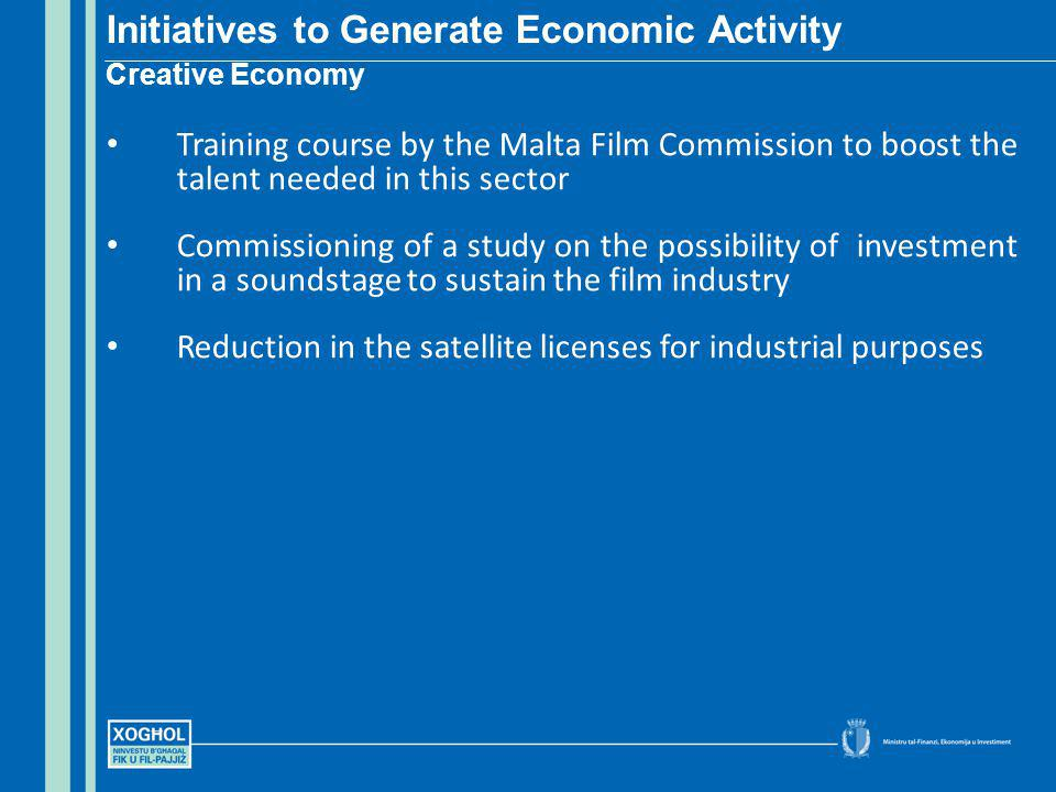 Training course by the Malta Film Commission to boost the talent needed in this sector Commissioning of a study on the possibility of investment in a