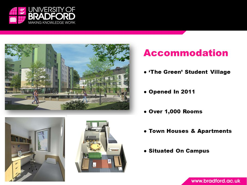 Accommodation The Green Student Village Opened In 2011 Over 1,000 Rooms Town Houses & Apartments Situated On Campus