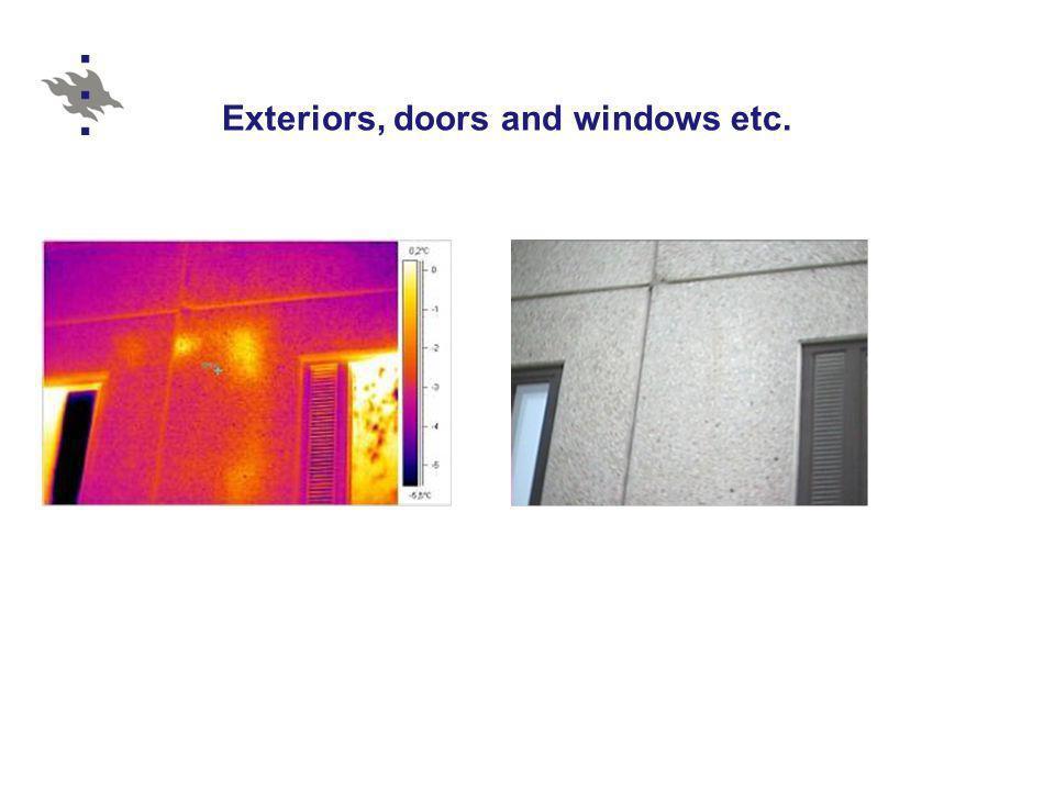 Exteriors, doors and windows etc.