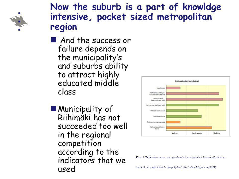 As part of this national restructuring process – several suburbs have lost their position
