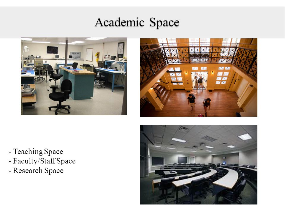 Student Service Spaces & Infrastructure -Student Spaces (residence halls, dining halls, and recreation areas).