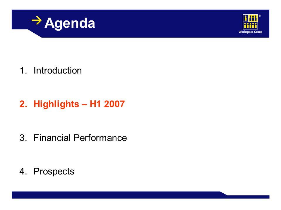Highlights September 2007March 2007 Rent Roll£49.5m£47.2m Occupancy86.4%84.8% Portfolio Valuation£1,035m£1,002m Number of Estates104101
